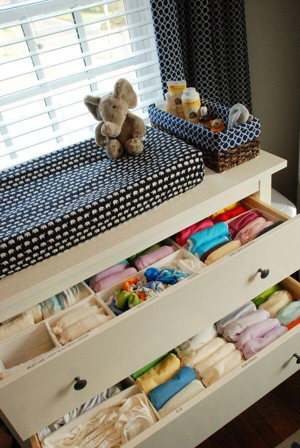5 dicas para organizar a cômoda do bebê